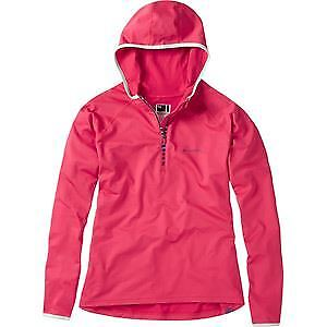 Madison Zena Women's Long Sleeve Hooded Top, pink Red Size 16 red