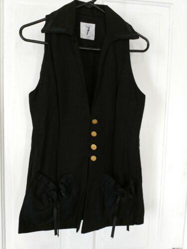 Todd Oldham, times seven, vintage 1990s vest, blac