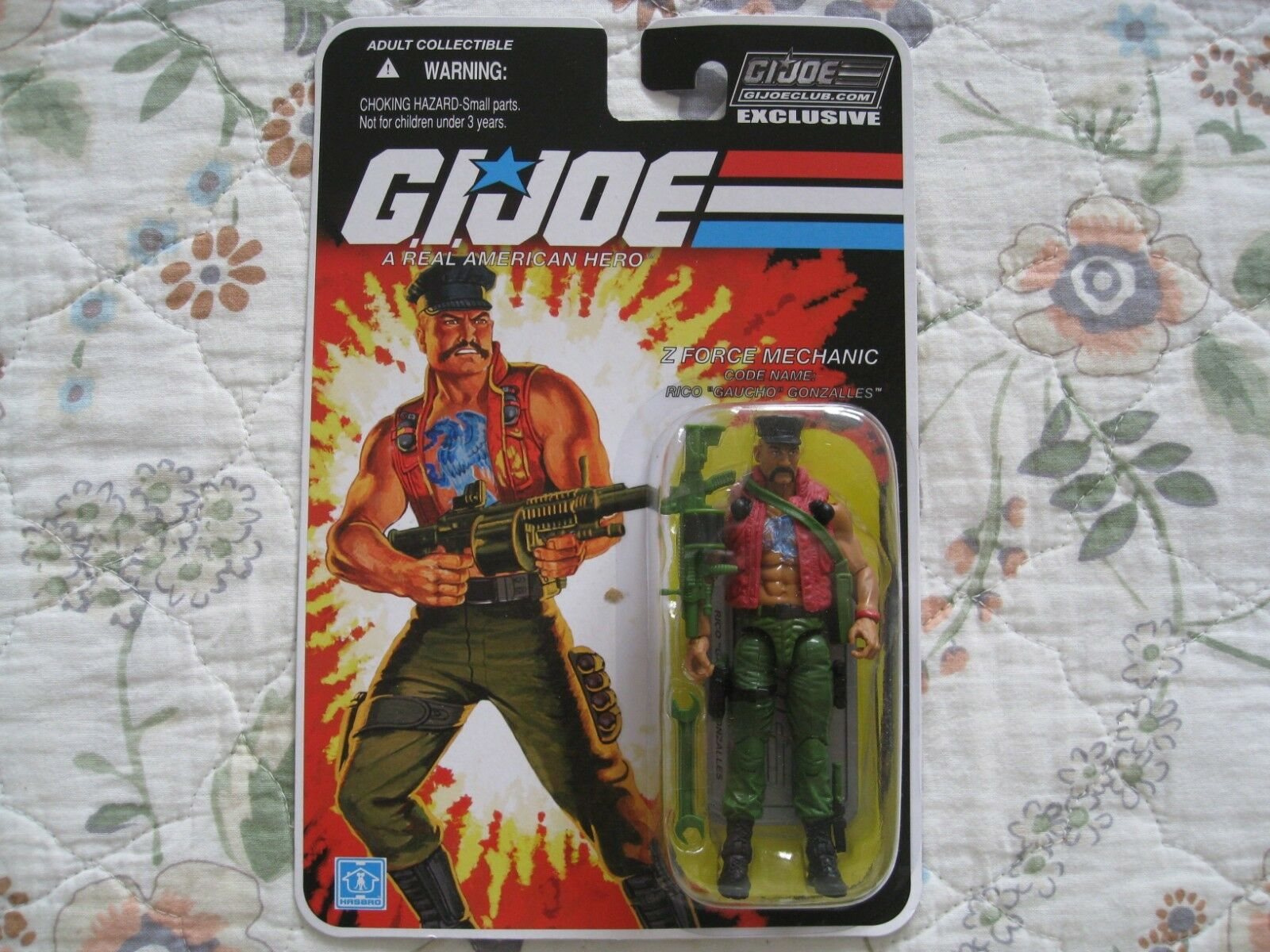 GI JOE COLLECTOR'S CLUB EXCLUSIVE Z FORCE MECHANIC RICO RICO RICO  GAUCHO  GONZtuttiES e73480