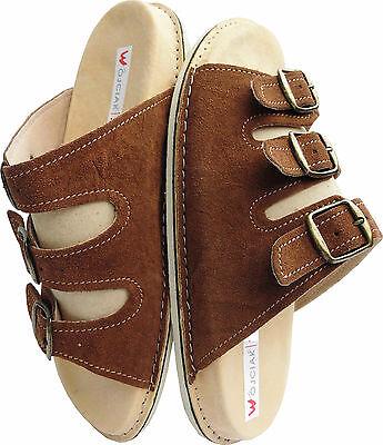 Sandalen - Pantolette - Hausschuhe - Badeschuhe Gr.43 Wildleder (PL.28-4-4-10)