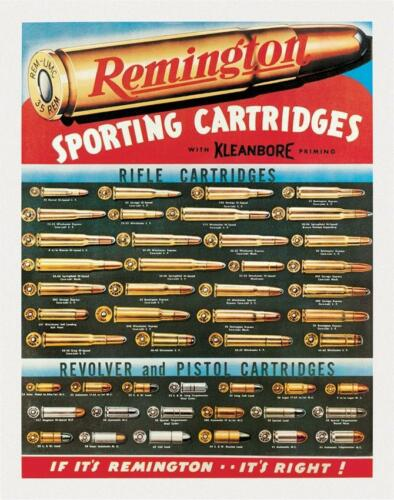 Remington Sporting Cartridges Tin Sign 1001