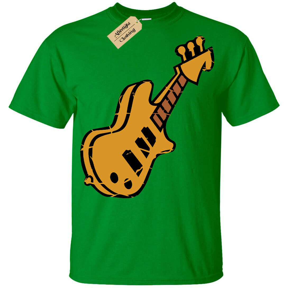 Kids Unisex Boys//Girls CHRISTMAS GUITAR Fairisle Guitarist Acoustic Music TShirt