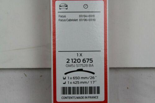 arrière FORD FOCUS Kombi mk2 2120675 2120572 Original Essuie-glace Feuilles avant