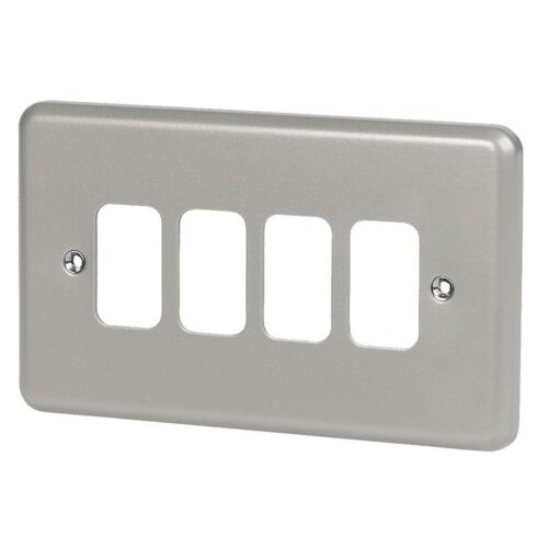 NEW MK 4-Gang Front Plate Metal-Clad