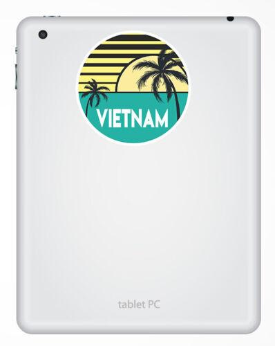 2 x 10 cm Vietnam Vinyle Autocollants Asie-Cool Voyage Autocollant Ordinateur Portable bagages #18627
