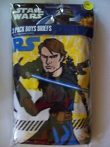 NWT STAR WARS The Colone Wars BOYS/' 5 briefs pack underwear size 4 multi color