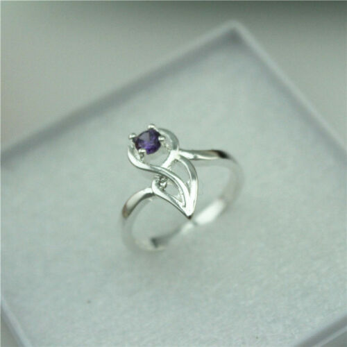 Wholesale 925 Sterling Silver Plated Women New Fashion Wide Crystal Ring HJ189