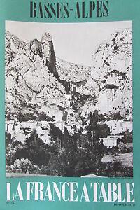 Gastronomia-Turismo-Folklore-Rivista-Francia-Tavolo-1970-N-143-i-Basse-Alpi