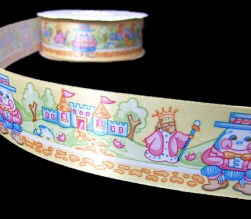 "5 Yds Baby Nursery Rhymes Humpty Dumpty Storybook Satin Ribbon 1 1//2/""W"