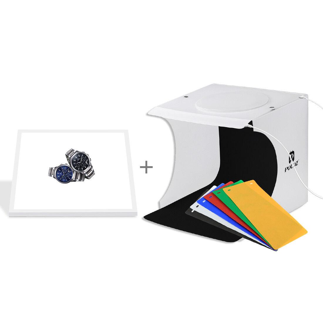 Mini LED Photography Shadowless Light Lamp Panel Pad 20cm x 20cm Effective Area Studio Shooting Tent Box Hasde Portable Mini Photo Studio Kit Acrylic Material