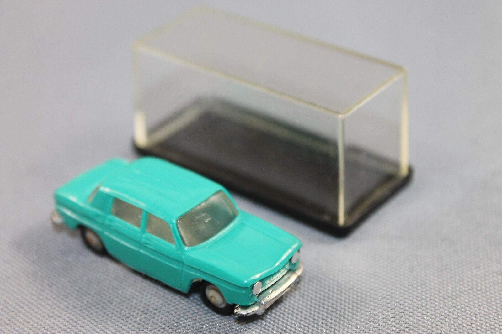 Norev No 514 Renault R 8 Farbe türkis in OVP Mircro Miniature Cars Maßstab 1 86
