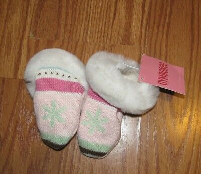 Gymboree COLOR HAPPY Baby Girls size 0 12 m 12 24 m Mittens Headband Set NWT
