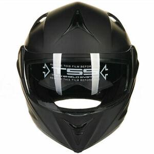 Matte-BLK-Full-Open-Face-Modular-Flip-Up-Dual-Visor-Motorcycle-Street-Helmet