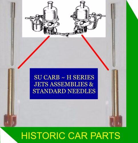 "ELVA Courier 1959-60 2 STD JET ASSY /& NEEDLES /""GS/"" for 1½"" SU Carbs BMC 1500"
