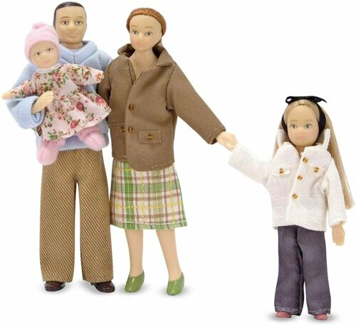 Dollhouse Accessories 4 Poseable Play Fig Melissa  Doug Victorian Doll Family