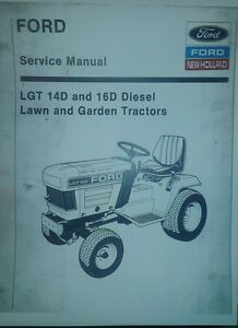 details about ford lgt 14d \u0026 16d diesel garden tractor service parts manual lawn riding 308pg  1972 ford lgt 145 wiring harness youtube