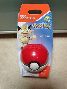 Bien Mega Construx Pokemon Meowth. Rare Et A Pris Sa Retraite. Uniquement Vendu Au Canada New En Stock-afficher Le Titre D'origine