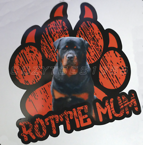 Rottie Mum Rottweiler Paw Dog Car Van Sticker Decal Bumper sticker jdm dub euro