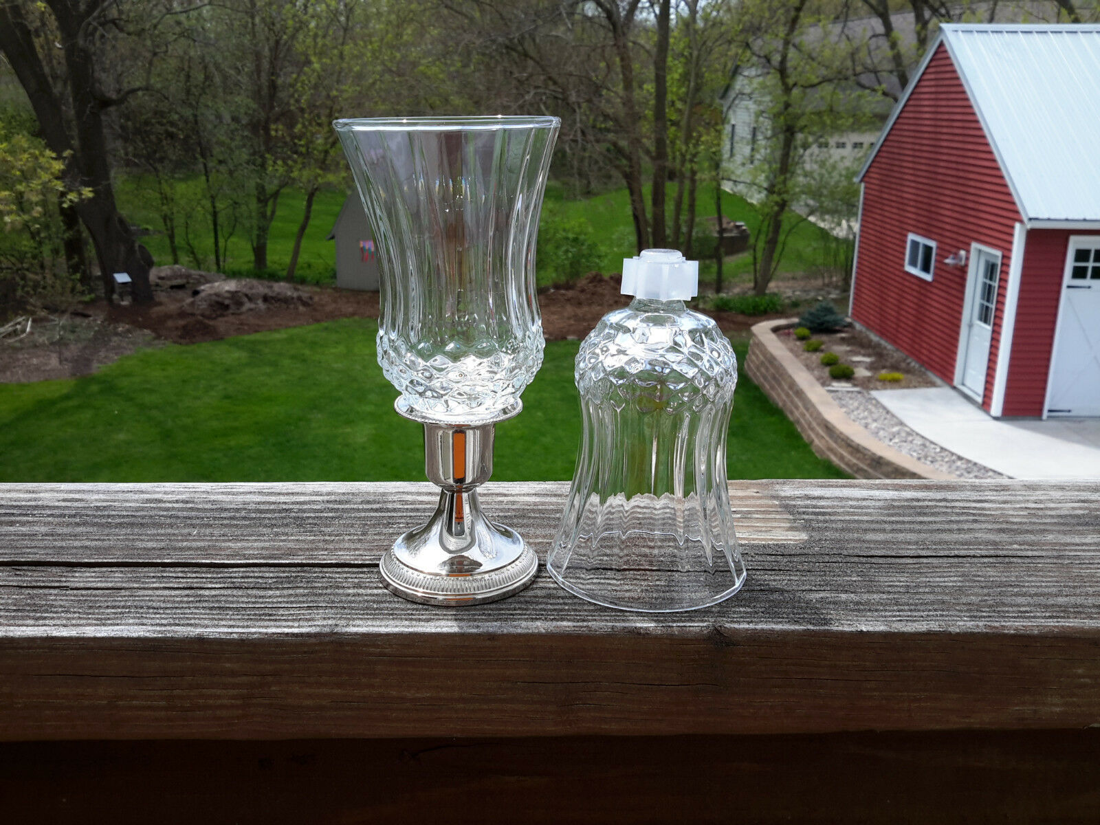 Short Diamond Votive Cups Lot of 4 Homco Home Interiors
