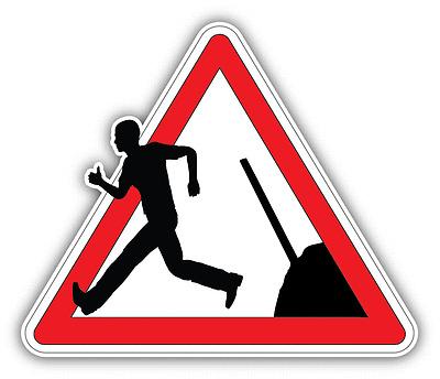 "Safety First Warning Sign Careful Worker Car Bumper Sticker Decal 6/"" x 3/"""