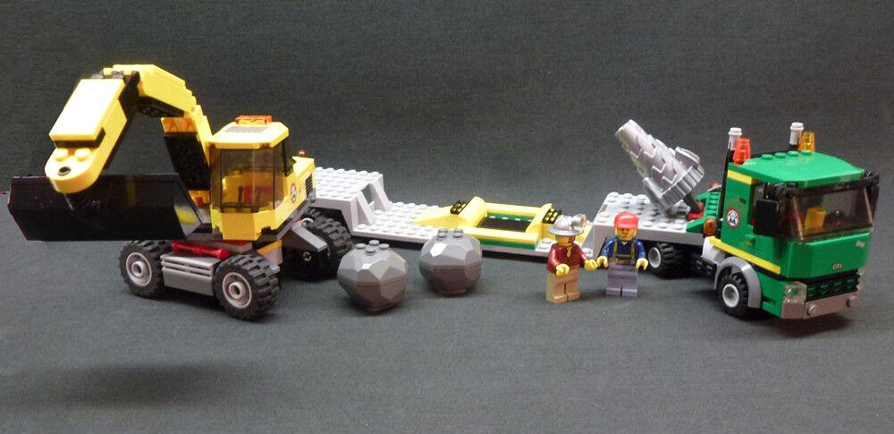 LEGO City Set  4203 Excavator Transport w/ 2 MiniFigures 100% Complete Retirosso
