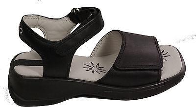 ECCO Schuhe Sandaletten Angebot Sandalen schwarz Klettverschluss echt Leder NEU