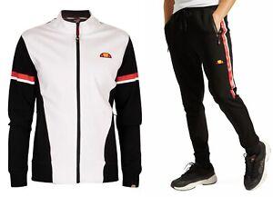 ellesse-Mens-Sportwear-Track-Jacket-Top-or-Jog-Pants-Black-White-Mix-Match