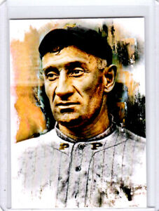 2021 Honus Wagner Pittsburgh Pirates 1/1 ACEO Fine Art Print Card By:Q