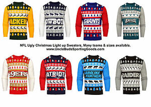 image is loading nfl mens light up ugly christmas sweater