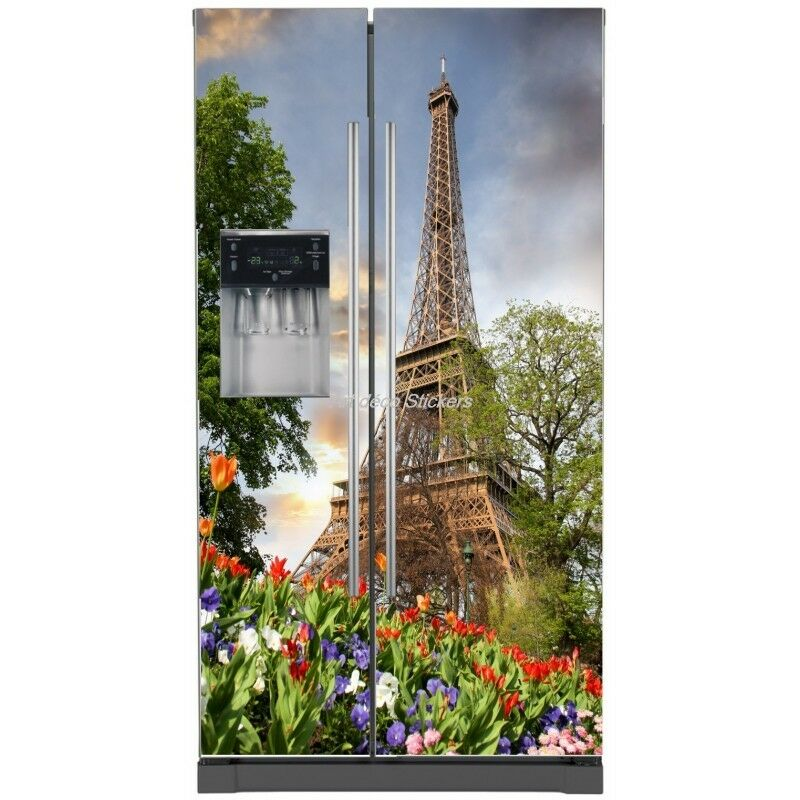 Aufkleber Kühlschrank Amerikanischer Haushaltsgeräte Dekor Küche Eiffelturm 734