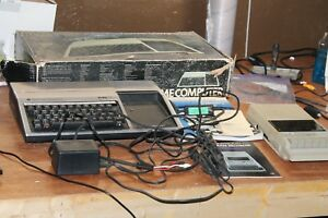 Texas-Instruments-TI-99-4A-Home-Computer-With-Box-amp-Cassette-Player-Cables