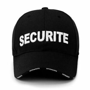 d3313977301 Image is loading Securite-Embroidery-Baseball-Cap-Security-Adjustable- Snapback-Big-