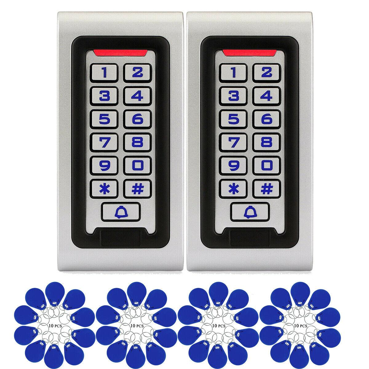 2 control xaccess Teclado Rfid lector de tarjeta de identificación para mandos de garaje hogar +40 xrfid tarjeta