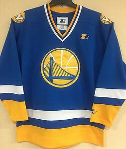 29dc8e43569 Golden State Warriors Men s Hockey Jersey by STARTER -Royal Blue ...