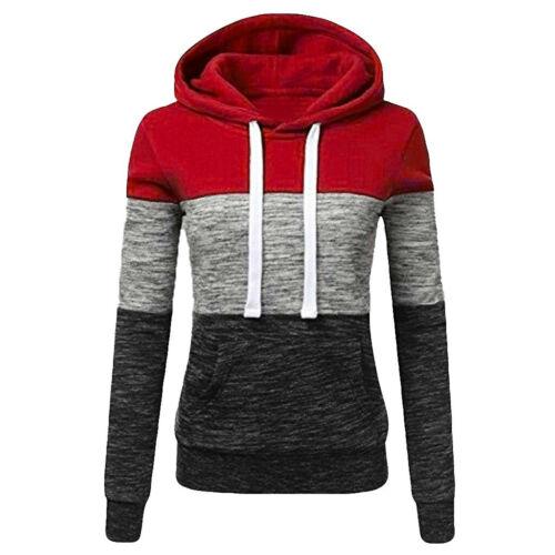 Women Casual Hoodies Sweatshirt Ladies Hooded Long Sleeve Tops Jumper Pullover U
