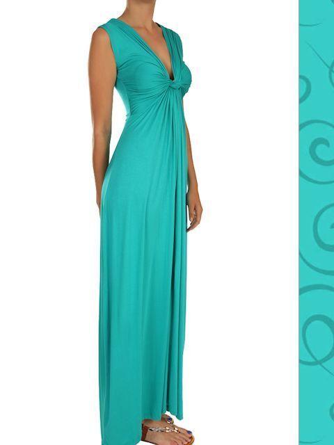 Flattering Summer Maxi Dress - Jade - M or L