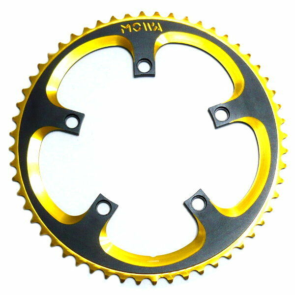 Gobike88 MOWA CNC 7075 Alloy  Single Chainring 56T, BCD 130mm, gold, J20  for sale online