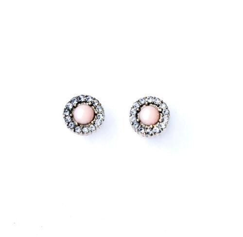 Boucles d`Oreilles Clous Rose Cristal Classique Original Soirée Mariage NN 2