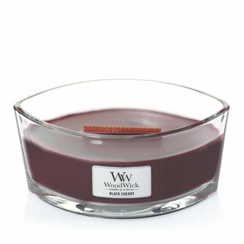 16 oz. WoodWick Black Cherry Hearthwick Ellipse Candle