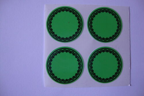 """12  GREEN   CROWN GREEN STICKERS  1/""""   LAWN BOWLS FLATGREEN  AND INDOOR BOWLS"""