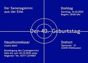 Details Zu Einladungskarten Tatort Geburtstag Einladung Geburtstagseinladung 40 50 Witzig