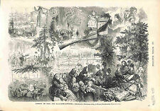 Allegorie Etrennes Arbre de Noel Chritmas Tree Alsace Élysée Montmartre 1874