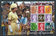 GREAT BRITAIN 2016 HM THE QUEEN'S 90th BIRTHDAY  GOLD FOIL CENTRE  BOOKLET PANE