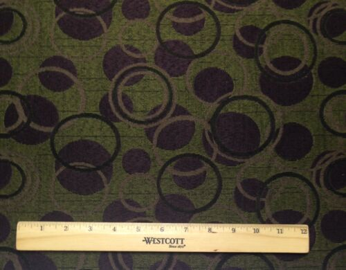 CRYPTON® BALLS /& CIRCLES PURPLE GREEN STAIN RESISTANT MULTIUSE FABRIC BY YARD