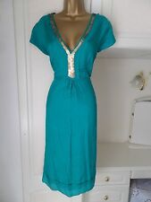 FAB LINED 100% SILK DRESS BY DESIGNEMATTHEW WILLIAMSON SIZE UK 16 BUST 44""