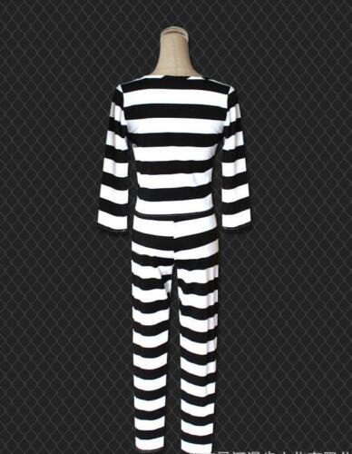 Prison School Uniform Midorikawa Fleur Cosplay Costume à rayures Set Complet NOUVEAU