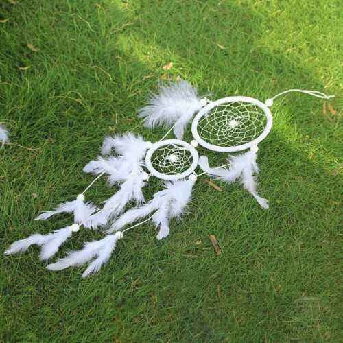 11*45CM DIY Handmade Dream Catcher With Feather Wall J2M5 Car Hanging Or S1H0