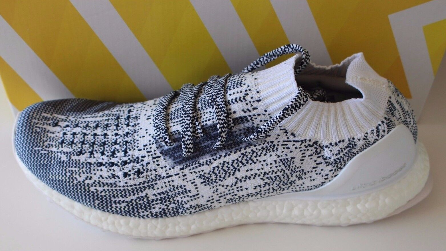 Adidas Ultra Boost Uncaged White Oreo Zebra Running Sneakers Trainers Comfortable