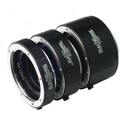 Electronic Marco Extension Tube Ring 13+20+36mm Set f Canon EOS EFS Camera Lens