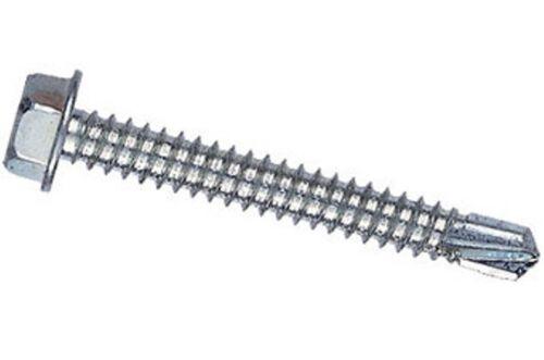 """100 1//2/"""" x #8-18 Hex Head Self Drill Screw #2 Point Zinc"""